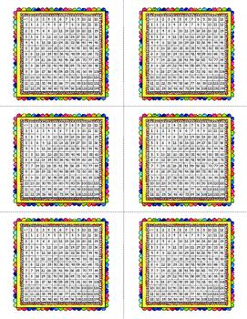 Multiplication Chart Grid Free Sample