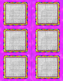 Multiplication Grid Watercolor