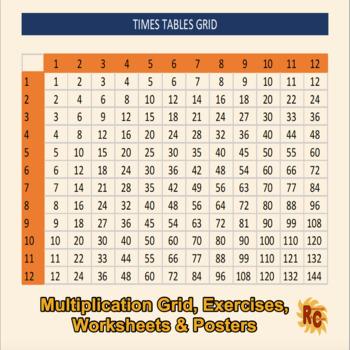 Multiplication Grid, exercises & worksheets.