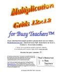 Multiplication Grids 12x12 (Blank & Filled-in) for Busy Teachers
