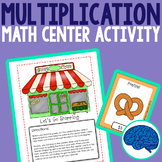 Multiplication Math Center - At the Grocery Store