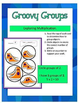 Multiplication - Groovy Groups Task Cards SET of 50!