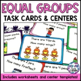 Multiplication Equal Groups Task Cards {Word Problems}