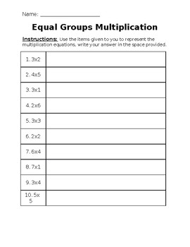 multiplication grouping worksheet by miss bs work of heart  tpt multiplication grouping worksheet
