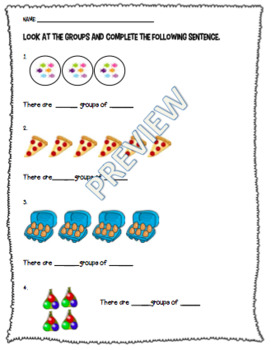 Multiplication Grouping Worksheet or Assessment *RECENTLY UPDATED*
