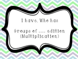 Multiplication Groups I Have Who Has