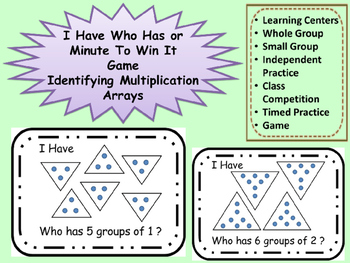 I HAVE WHO HAS Multiplication Groups Minute To Win It Game