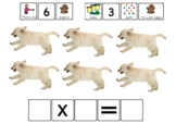 Multiplication Groups Playdough Boards - visual supports -