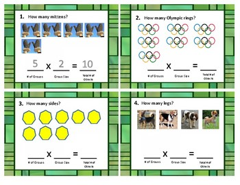 """Multiplication """"Groups of"""" Task Cards"""