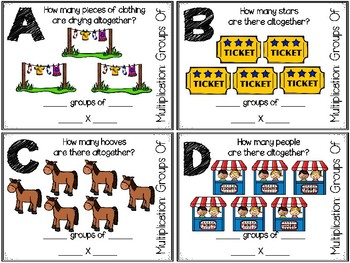 Multiplication: Groups of Task Cards Set Two