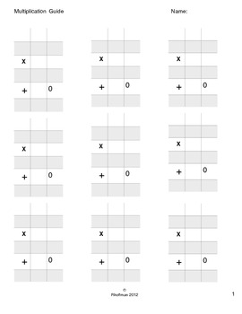 Multiplication Guides