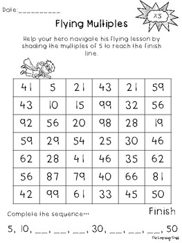 Multiplication HERO x 5 Activity Pack