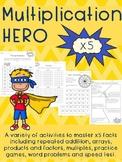 Multiplication HERO x 5 Activity Pack