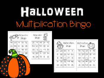 Multiplication Halloween Bingo
