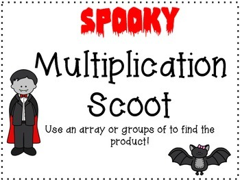 Multiplication Halloween Scoot