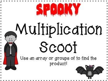 Multiplication Halloween Scoot