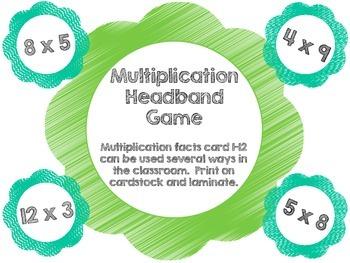 Multiplication Headband Game