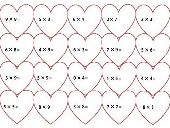 Multiplication Hearts