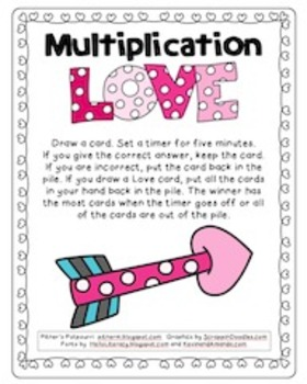Multiplication Hearts Game