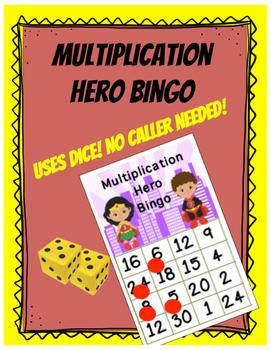 Superhero Multiplication Hero Bingo