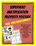 Superhero Multiplication Hero Property Posters with Free Assessments
