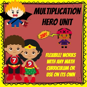Superhero Multiplication Hero Unit
