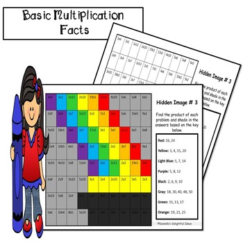 Multiplication- 15 Mystery Pictures