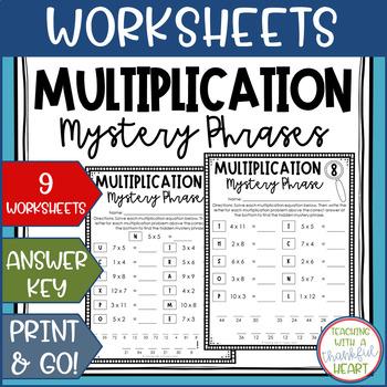 Multiplication Hidden Mystery Phrases