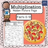 Multiplication Hidden Picture Coloring Page (PIZZA!)