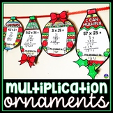 Multiplication Holiday Math Ornament Activity