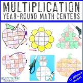 Multiplication Holiday & Seasonal Math Centers | Includes