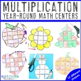 Multiplication Holiday & Seasonal Math Centers | Includes