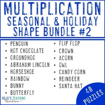 Multiplication Holiday & Seasonal Math Centers with Groundhog Day Games