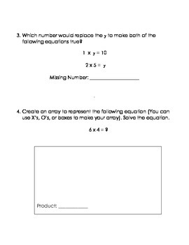 Multiplication Homework - Solving for Unknown Factors and Creating Arrays