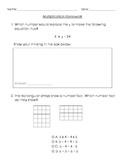 Multiplication Homework - Solving for Unknown Factors and