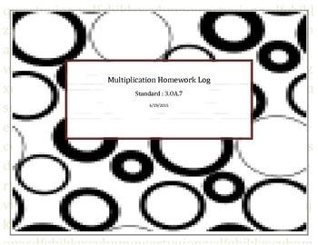 Multiplication Homework Log