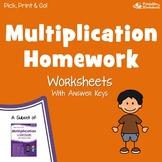Enrichment For Multiplication, Fluency Homework Worksheets