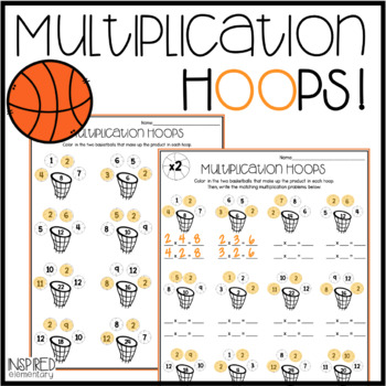 Multiplication Hoops: Multiplication Facts to 12