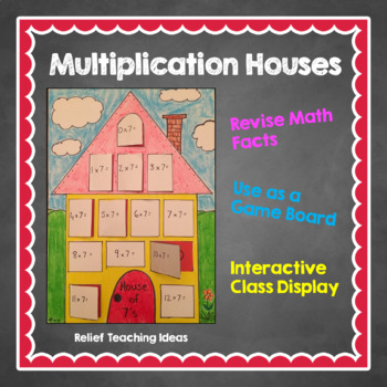 Multiplication House Revision Game Board Or Display