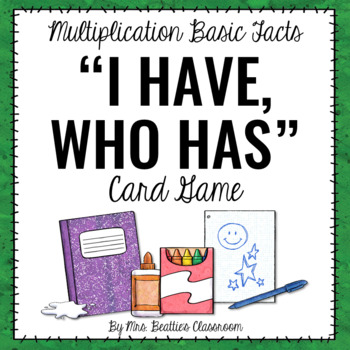 Multiplication Basic Facts Game