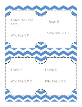 Multiplication I Have... Who Has - Common Core Aligned Multiplication Game