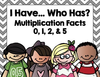 Multiplication I Have...Who Has? x 0, 1, 2, & 5
