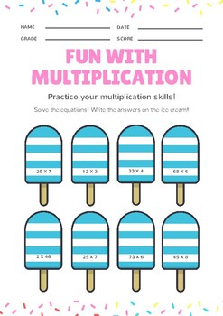 Multiplication - Ice Blocks