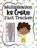 Multiplication Ice Cream Fact Tracker