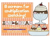 Multiplication Ice Cream Matching