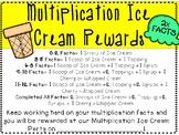 Multiplication Ice Cream Party Rewards Poster