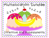 Multiplication Ice Cream Sundae Incentive and Assessments