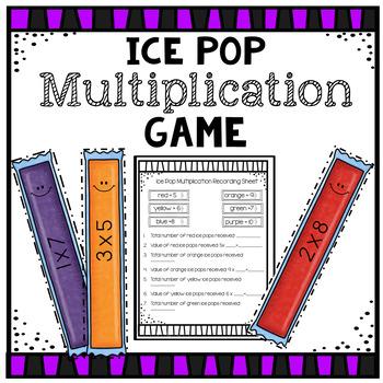 Multiplication Ice Pop Game