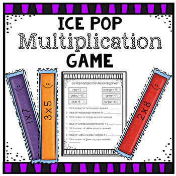 Multiplication Ice Pop Game