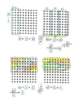 Multiplication, Improper Fractions, and Division Fact Families